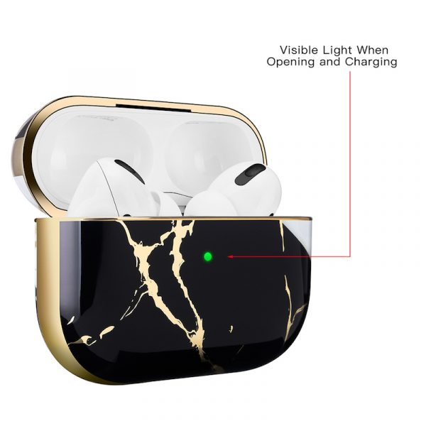 Airpods Pro Case Marble Texture Black/Gold