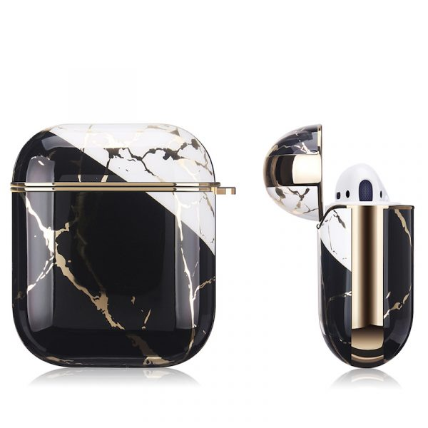 Airpods Case Gen 1/Gen 2 Marble Texture Black/Gold
