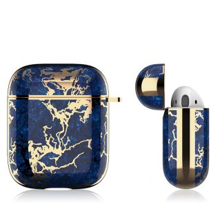 Airpods Case Gen 1/Gen 2 Electroplating Blue/Gold